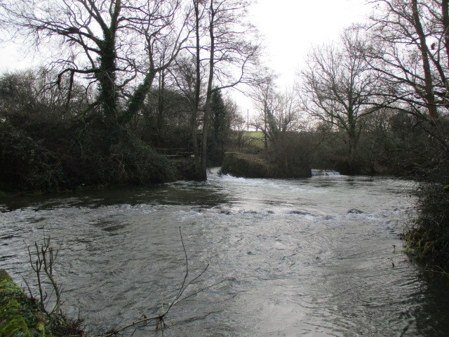 Further on the river is gushing well