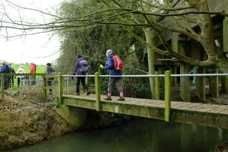 Then a bridge over a stream next to a disused railway bridge