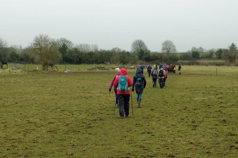 Heading out across fields