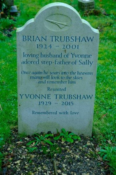 Outside we spot the grave of Brian Trubshaw