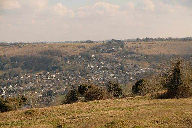 Views of Rodborough as we turn the corner
