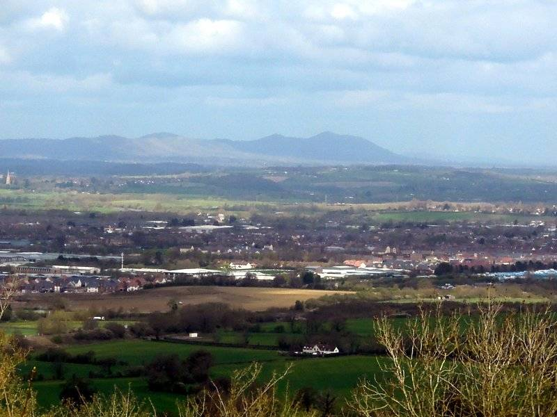 A good view over Gloucester to the Malverns