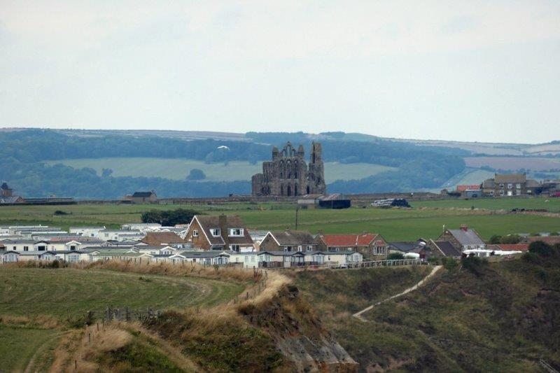 Whitby Abbey to the front