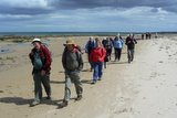 Walking towards Bamburgh