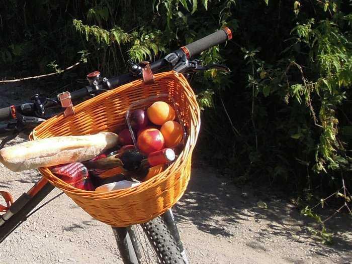 Local produce on board a local bike