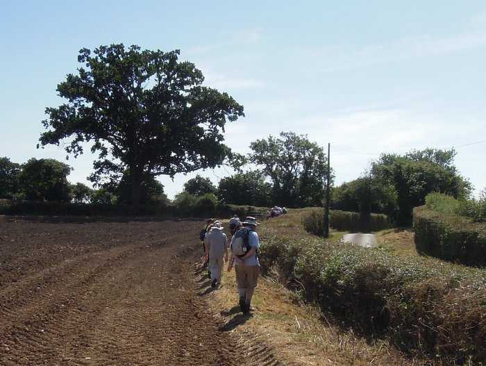 We continue past ploughed fields