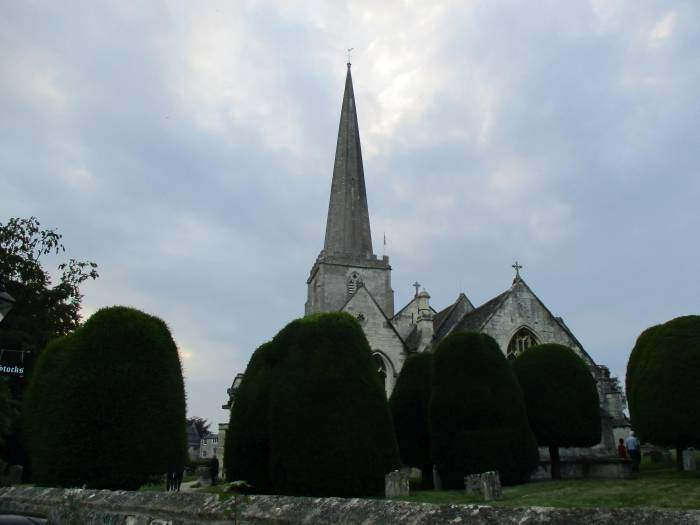 The chuch and churchyard in sight