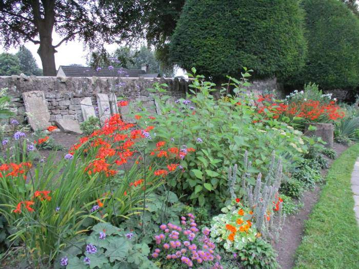 Lovely flower beds