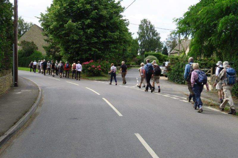We head out of Shipton Moyne