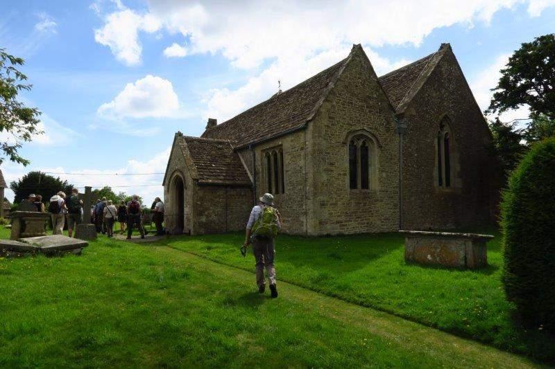 Leaving the churchyard