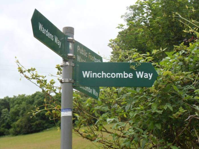 We follow the Winchcombe Way