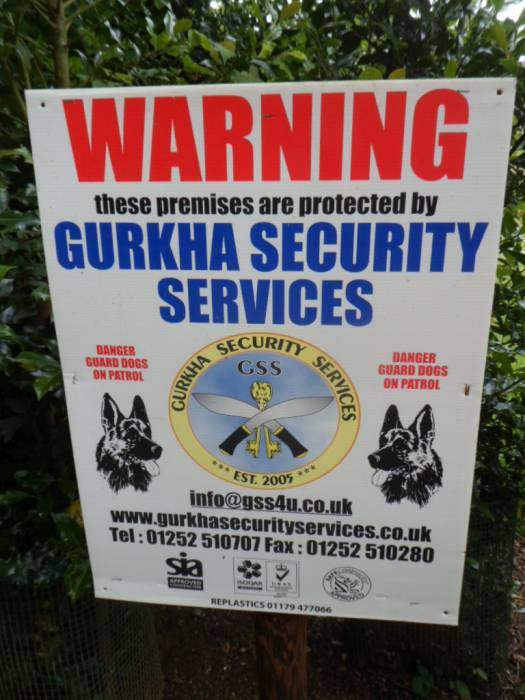 We don't see Gurkhas or Alsatians