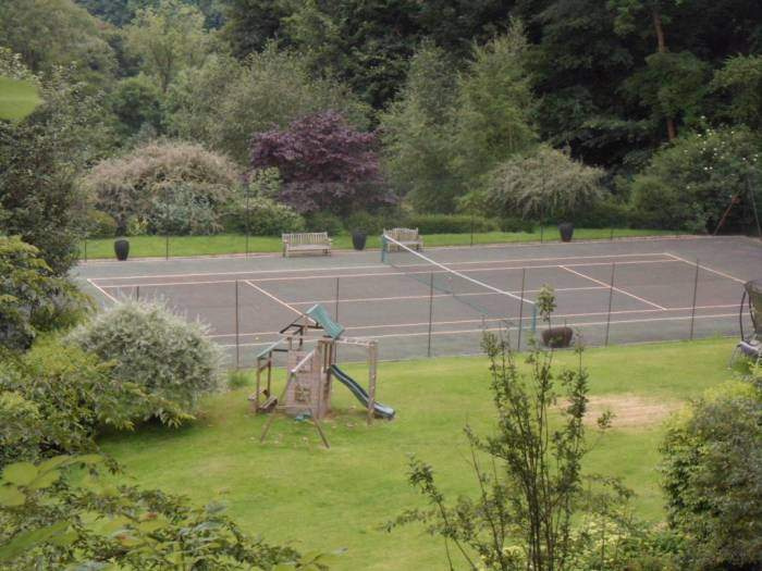 With its tennis court - perhaps it will produce the next British Wimbledon champion!