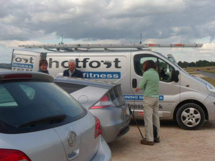 Are Les, Goff and Pam thinking of doing Hotfoot fitness training instead of Tim's walk?