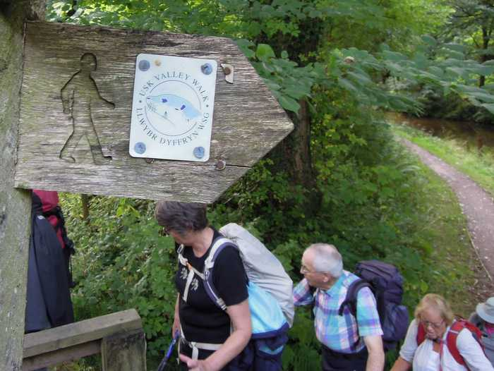 And on to the Usk Valley Walk