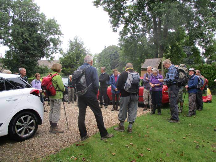A good crowd for Brian's walk from Fostons Ash