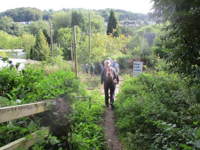 As we cross over the railway line