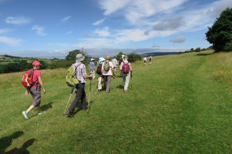 Heading off across Rodborough Common from The Bear