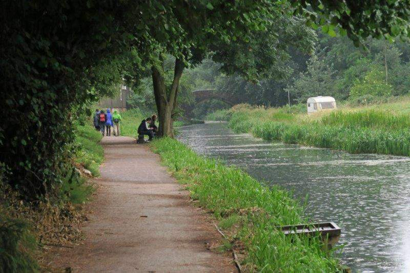 Rain doesn't deter fishermen either
