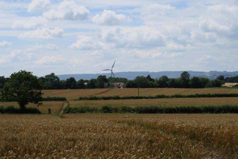 Continuing on we can see the wind turbine at Sharpness