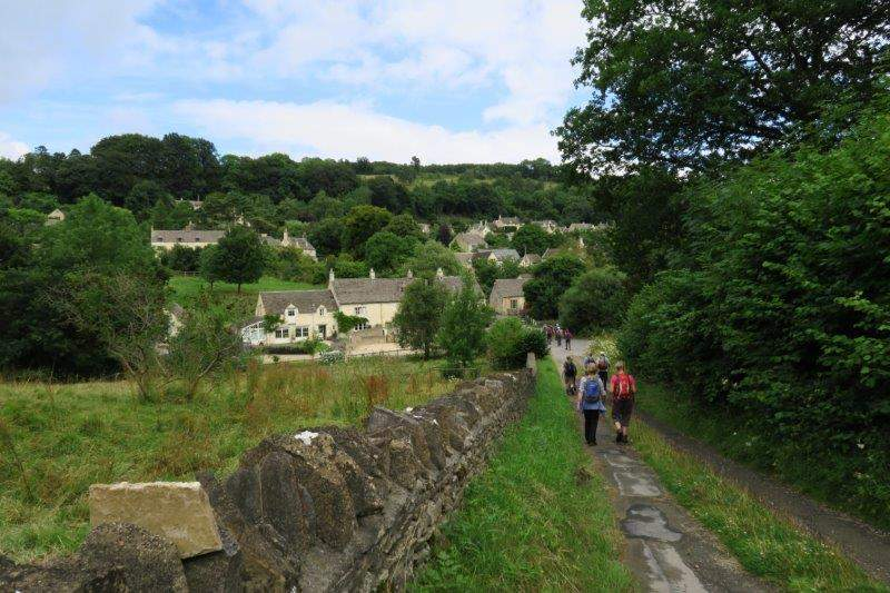Down into the village