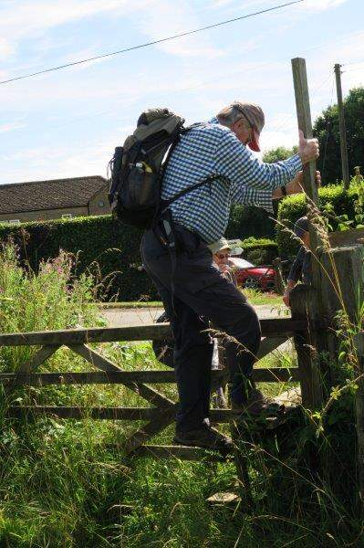 Brian successfully copes with a difficult stile