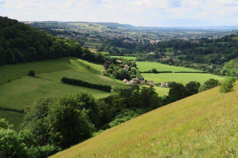 Views  over Stroud to the River Severn