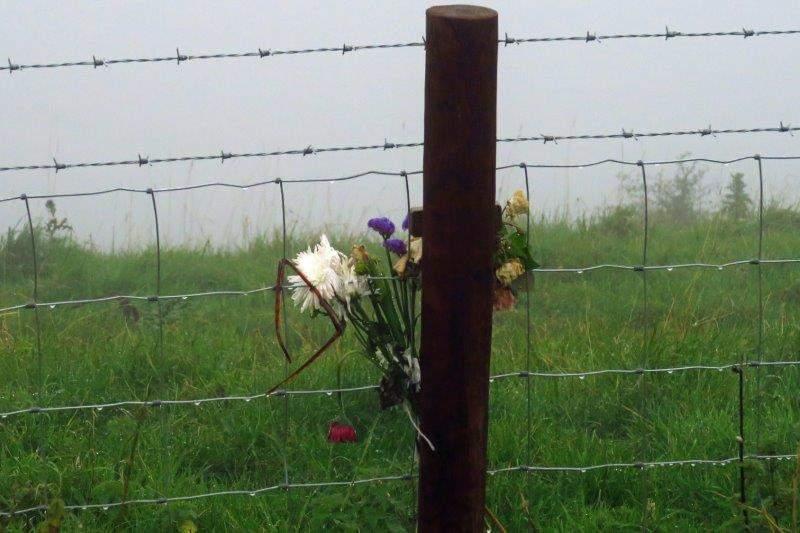 On top of Coaley Peak - a memorial?