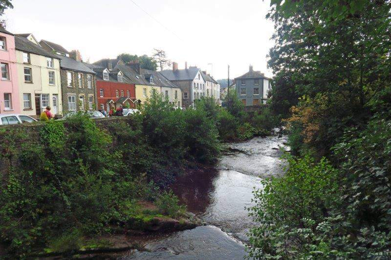 We then follow the river back into Brecon
