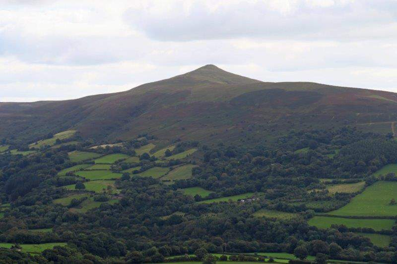 Sugar Loaf towering above us across the valley