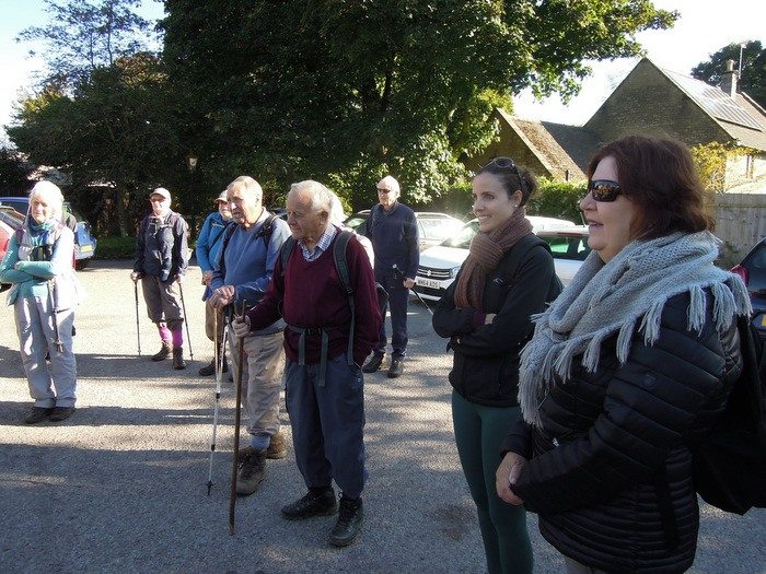 A brilliantly sunny morning for our leisurely walk