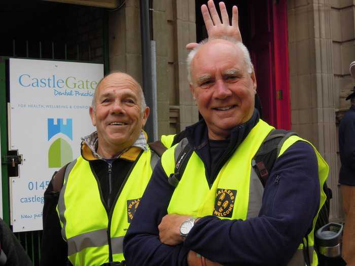 Ray, backmarker and Allen, leader of our 11 mile Dursley Festival Walk - Vale and Trail