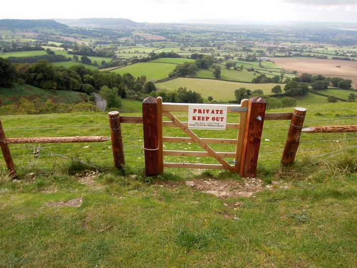 Where someone has banned us from Open Access land