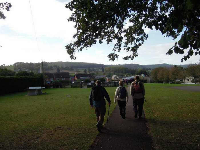 We continue through the park