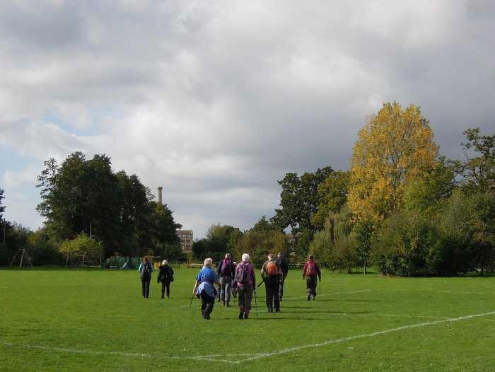 Back we head across a football pitch