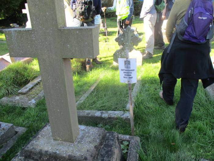 We pass through Dursley churchyard and the grave of this captain whose mission was to preserve the Irish wolfhound.