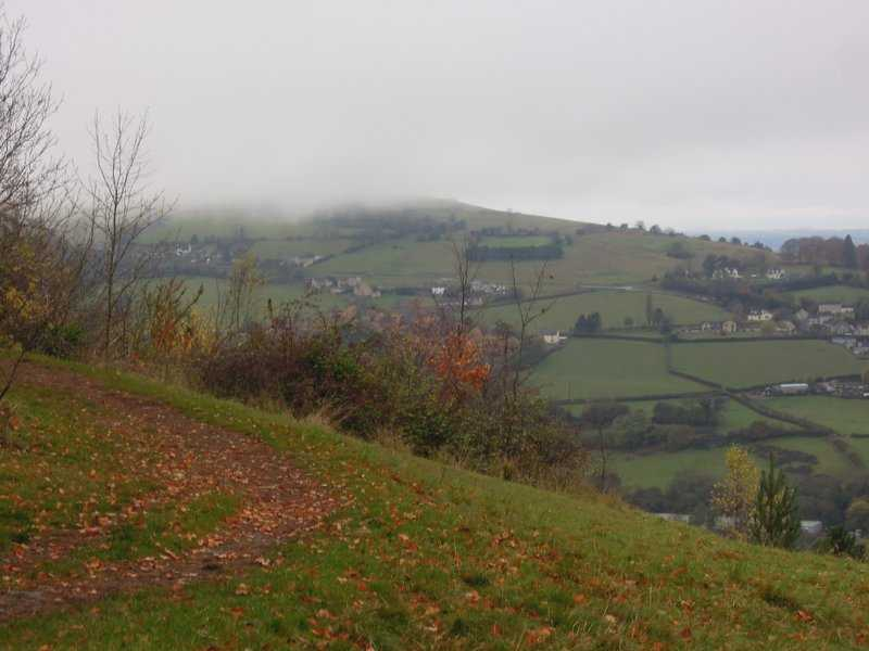 Selsley Common in the clouds