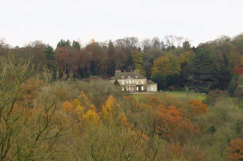 Gatcombe House across the valley