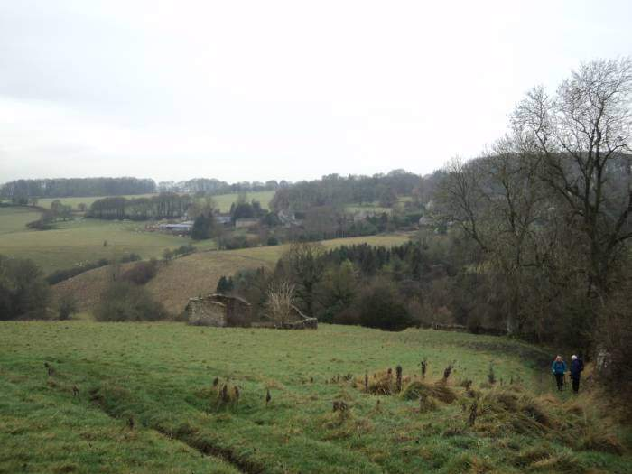 Looking back to Througham