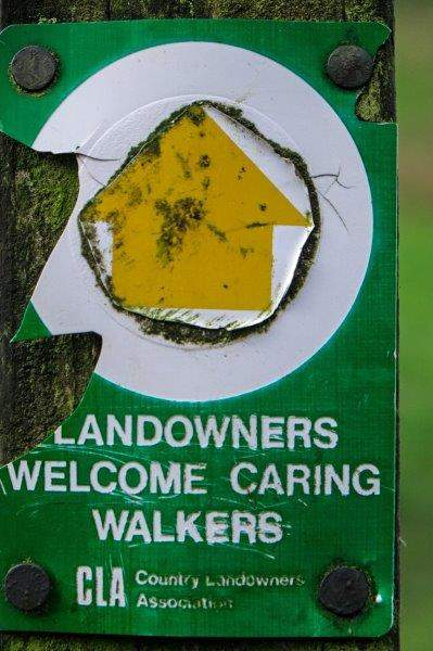 Hope it wasn't the caring walkers who chipped away that sign