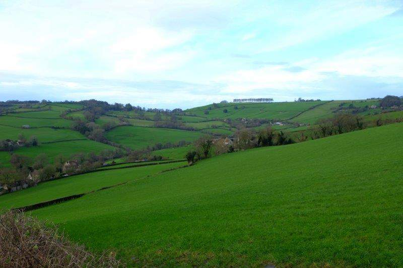 Takes us over the A46 and into the next valley