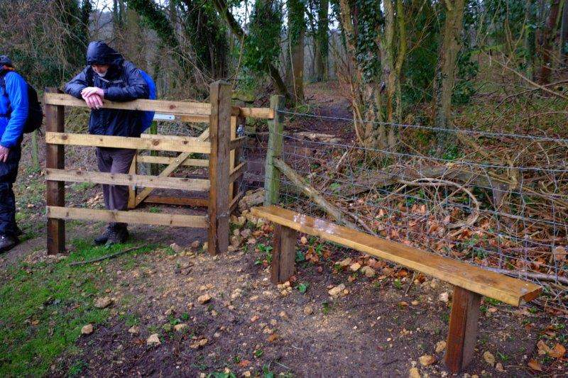Then a pause to look at the kissing gate and bench put in in memory of Tom Capper