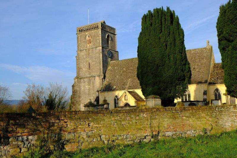 Arlingham Church bathed in sunshine
