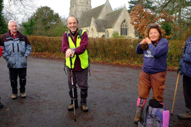 As we meet Peter in the village hall car park