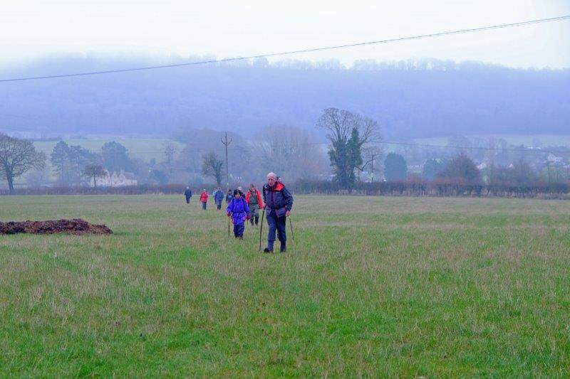 Down in the valley striding out across fields