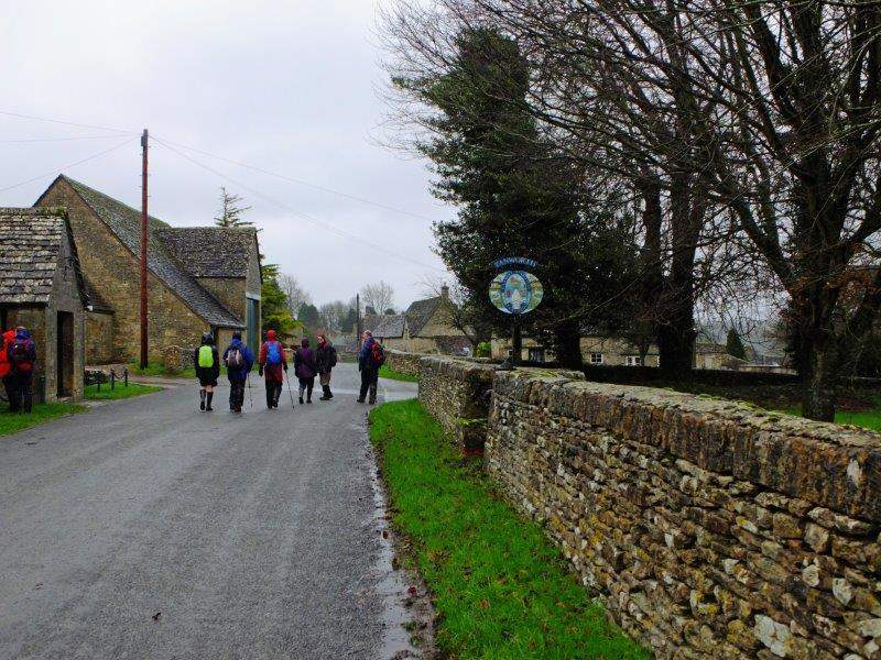 Past the village sign