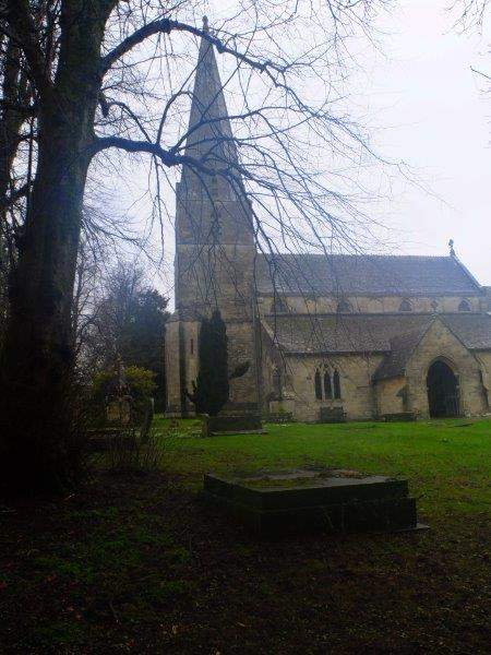 Past the church