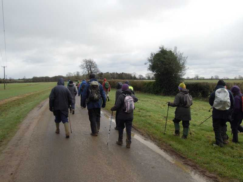 Where a majority vote leads us to cut a mile off the walk as we are rather damp