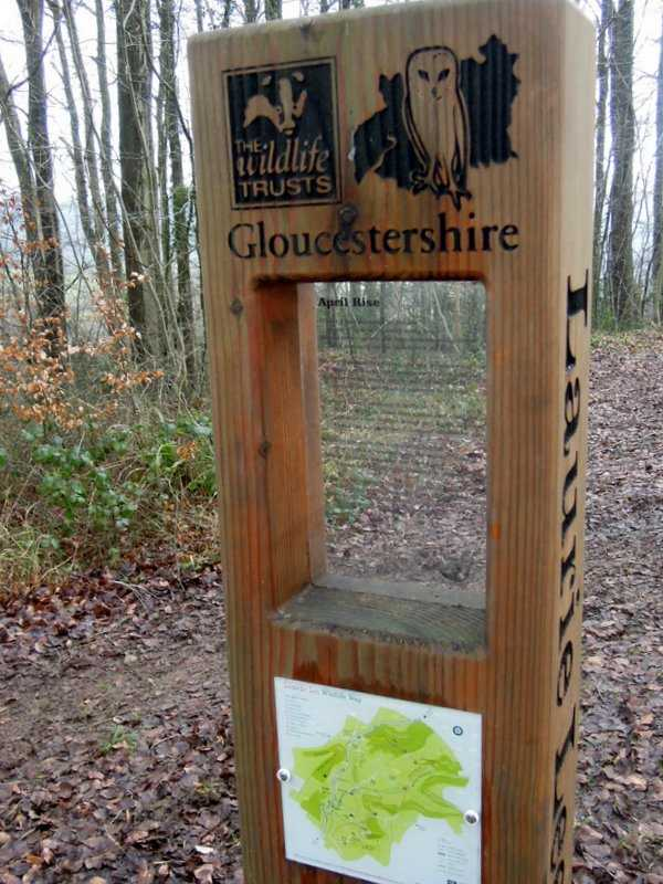 One of the new poetry stations around the Laurie Lee walk - April Rise