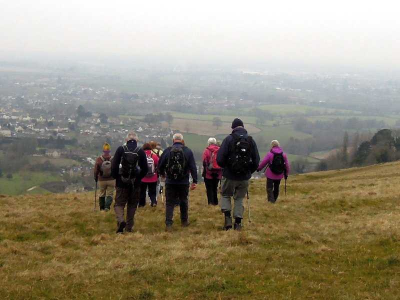Steeply down towards the Stanleys